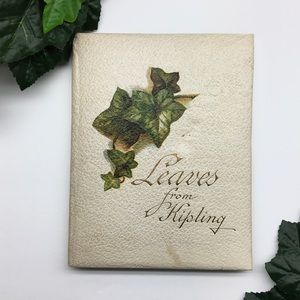 Antique Book Of Poems Poetry Leaves Of Kipling